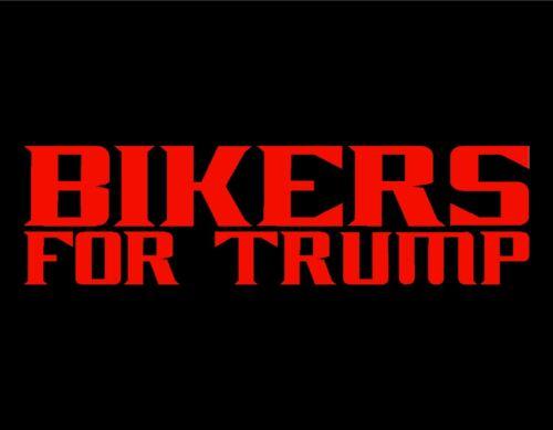 "BIKERS FOR TRUMP VINYL DECAL RED 3/"" X 9/"" PRESIDENT DONALD TRUMP 45 MAGA USA"