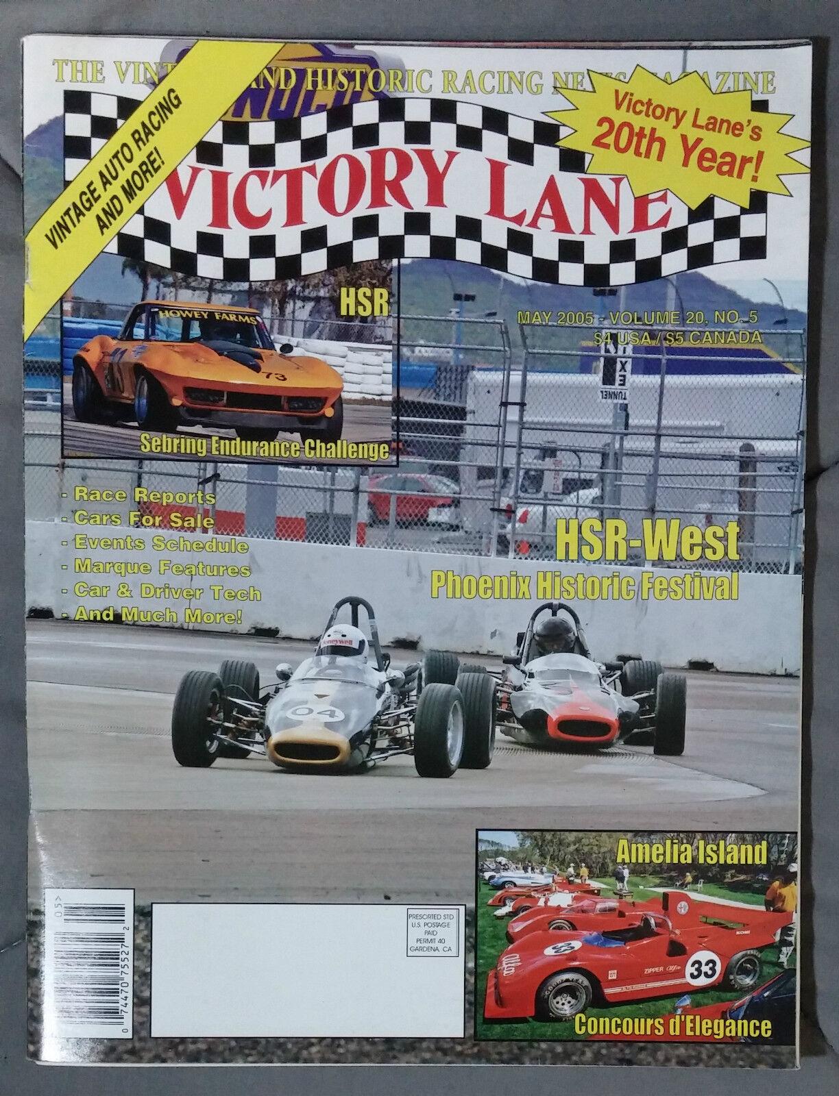 VICTORY LANE HISTORIC RACING NEWS VINTAGE MAGAZINE 2005 MAY HSR ...