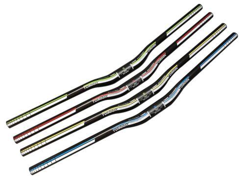 TOSEEK 3K Full Carbon Fiber Riser Bar Mountain Bike Handlebars 31.8*600-760mm