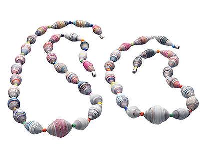 Fair Trade Paper Necklace Choker Kenya.
