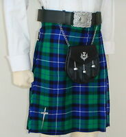 Scottish | Freedom Tartan Heavy Kilt & Kilt Pin | Geoffrey
