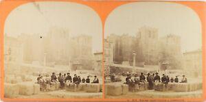 FRANCE-Marseille-Eglise-Saint-Victor-Photo-Stereo-Vintage-Albumine-ca-1865