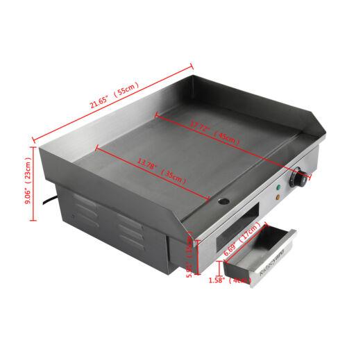 Ridgeyard 53 × 36cm Plancha Electrique Chop Plate Commercial Countertop BBQ