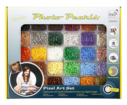 PHOTO PEARLS® bunt Kit NABBI 7.500 Bügelperlen Softwarecode f eigene Fotos 75598