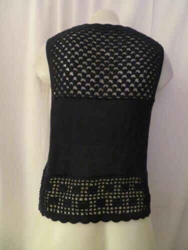 Tank Park Central Navy Crochet Xs West Top Cotton Womens 5gpxq4Y4