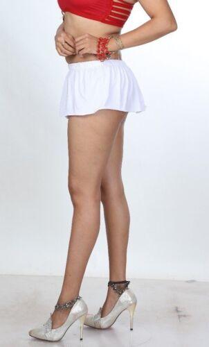 Women/'s Ladies Just Short White Divas Micro Mini Skirt Stretchy Mini Skirt 004