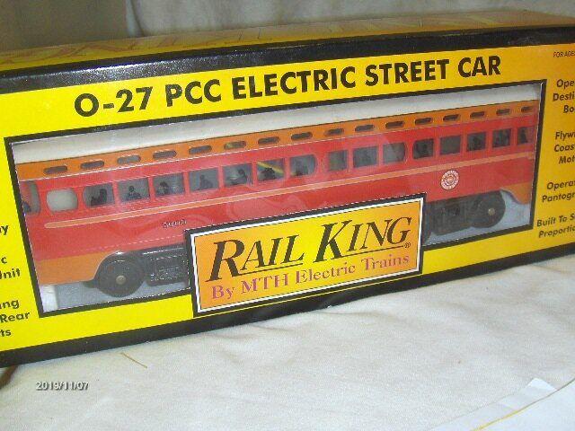 0027. SCALA MTH RAIL re PCC STREET AUTO  3025131  con Prossoo suono Nuovo in Scatola AB 82