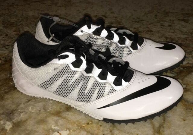 new product 00827 1c42e NIKE RIVAL S 7 White Black Sprint Track Spikes Mens 9 9.5 10.5 11 11.5 12