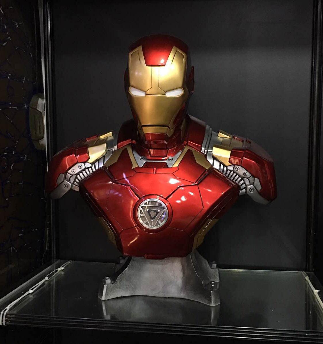 Iron Man Mk3 Mark 3 buste en résine statue DEL 1 1 Tony Stark Avengers