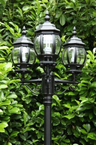Gartenleuchte Außenstehleuchte Kandelaber Wegeleuchte Stehlampe Aussen SCHWARZ