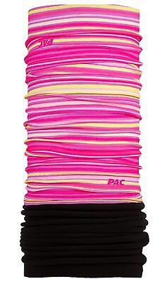 P.a.c. Kinder Multifunktionstuch Winter Kids Fleece Stripes Pink