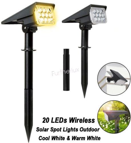 LED Solar Landscape Spotlights Outdoor IP65 Waterproof Solar Powered Wall Lights