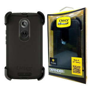 new styles b2a58 cec55 Details about NIB OtterBox Defender Series Case W/Clip for Motorola Moto X  2nd Gen - Black