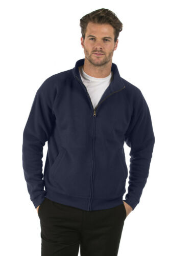 Mens /& Ladies Bruntwood Classic Full Zip Sweat Jacket Cotton//Polyester
