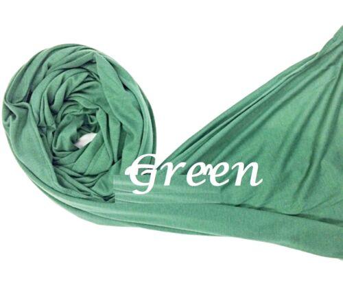 Stretchy hijab large plain lycra maxi shawl wrap//clearance sale Jersey scarf