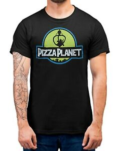 Pizza-Planet-Jurassic-Park-ToyStory-T-Shirt-Adults-Sizes-Black-100-Cotton-Shirt