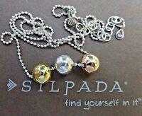 Silpada Fusion Necklace N2850 Sterling Silver Silpada Rose Silpada Sun