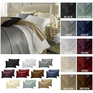 400-TC-Thread-Count-100-Egyptian-Cotton-Extra-Deep-Fit-Fitted-Flat-Sheets