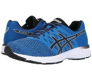 2793c76446da ASICS Men s GEL-EXALT 4 Running Shoes (T7EON) BLUE BLACK BLUE WHT Sz ...