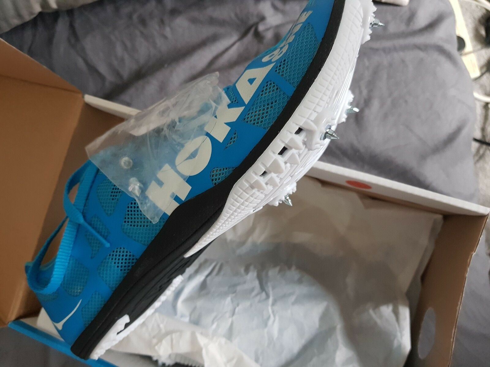 Hoka One One rocket spikes Mens Größe UK 7.5