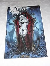 2016 ECCC LADY DEATH CRYSTAL ART PRINT 17 BY MIKE KROME SIGNED BRIAN PULIDO