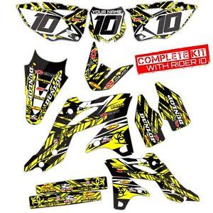 2007 rmz 450 graphics kit suzuki rmz450 deco motocross dirt bike decals sticker ebay