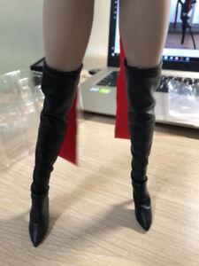 HOT FIGURE TOYS 1//6 Women/'s boots fit plastic bag female ferrite Hollow Shoes