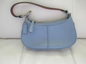 8ad9f131af0 Image is loading COACH-Light-Blue-Small-Handbag ...