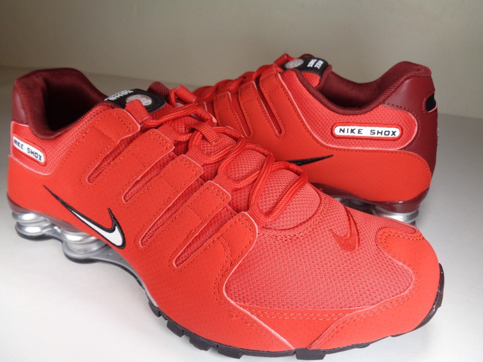 Nike Blanco Shox NZ Universidad Rojo Blanco Nike Team Rojo (378341601) f9c4c0