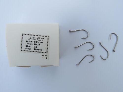 Pêche silure toutes méthodes boîte de 100 hameçons n° 3//0