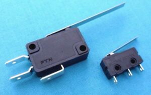 Micro Switch Long Arm - 3A & 15A  Packs of 2