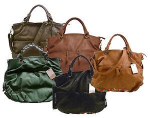 Curuba-Handtasche-Henkeltasche-Shopper-Beuteltasche-in-Leder-Optik-Clive-Nieten