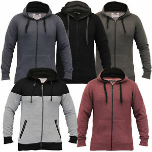 Mens-Diamond-Quilted-Hooded-Top-Fleece-Lined-Sweatshirt-By-Galvanize