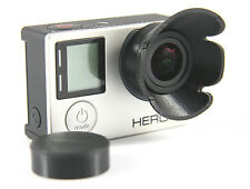 Sonnenblende Lens Hood GoPro Go Pro HERO 3+, 4  Linse Sun Shade Cap schwarz