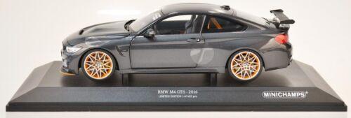 Minichamps 110025222 bmw m4 GTS 2016 1:18 nuevo//en el embalaje original gris metalizado