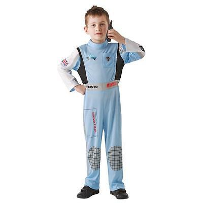 Disney Cars 2 Finn McMissile Formula 1 Racing Driver Child Fancy Dress Costume