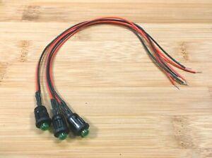3 BBT 12 volt Green LED Micro Mini RV Courtesy Lights
