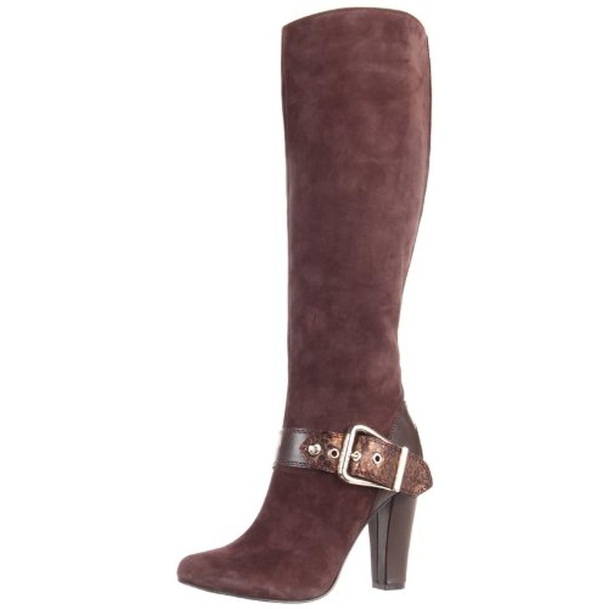 210 BCBGeneration Womens Oak Bronze Brown Knee-High Boots Sz 8.5 Medium (B,M)