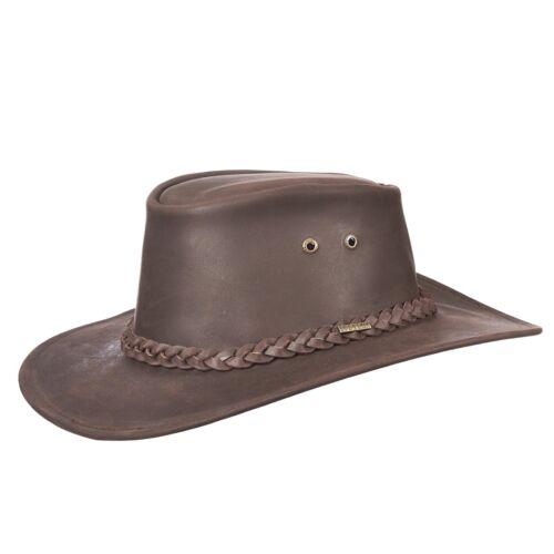 Nouveau-Stetson-Buffalo Leather Collection Aussie Style Hat-STW197