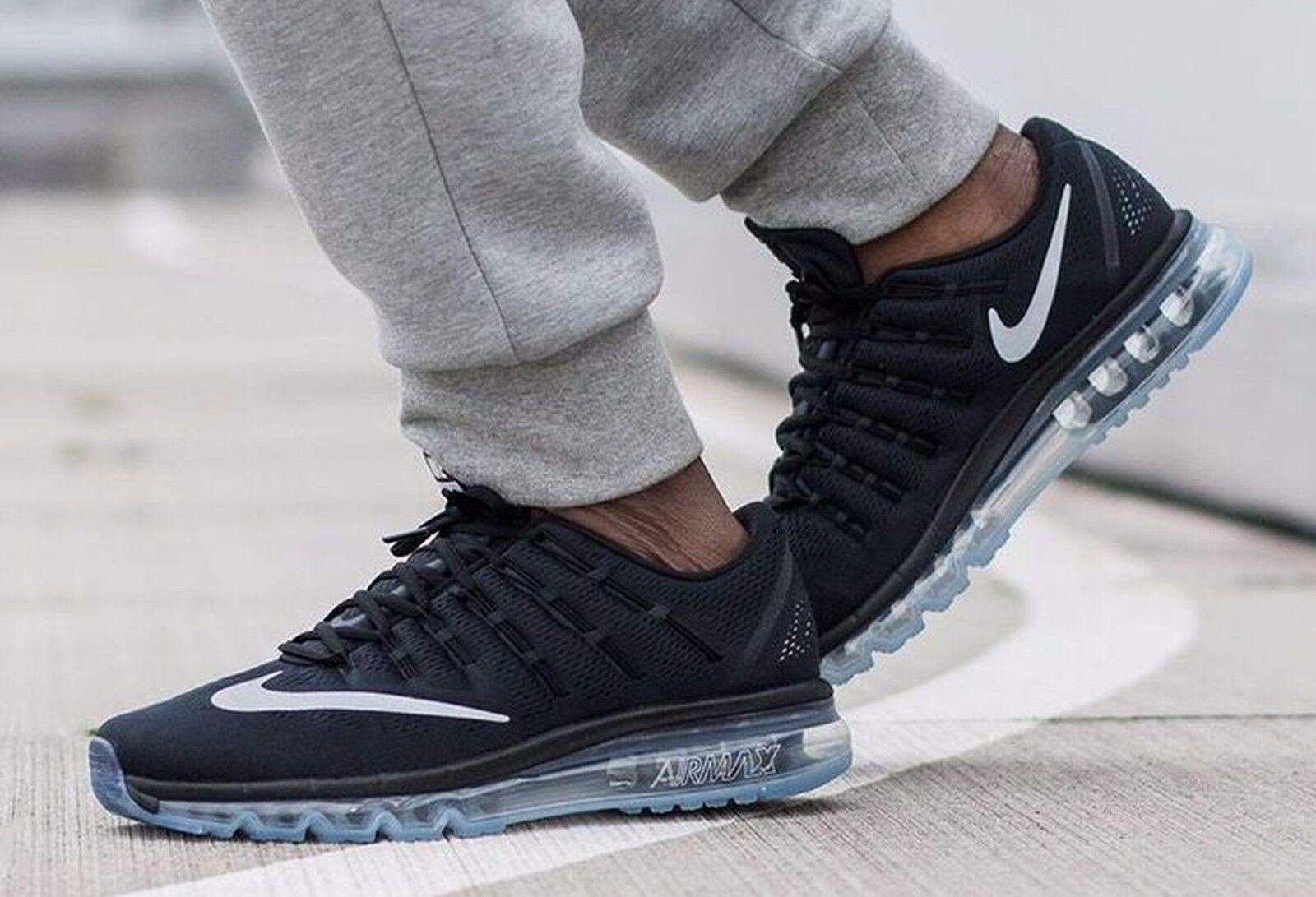 Nike Air Max 2016 Mens Sz 7.5 806771-001 Black/ White/Dark Grey