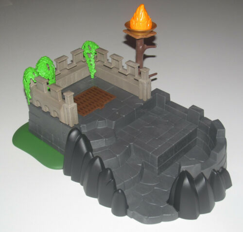 Playmobil base rock decor knight bastion vegetation during 35x25x15 cm new