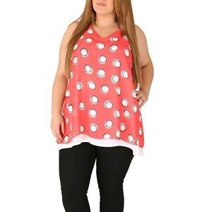 Emily-Simply-Be-Pink-White-Layered-Split-Back-Tunic-Top-Plus-Size-16-26