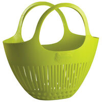 Hutzler Gardening Colander Tote Basket Farmers Market Beach Cut Flower Gathering on sale