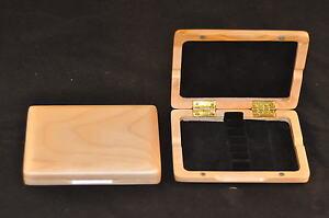 Solide Érable Bois Oboe Reed Case Pour 6 Anches (brand New)-afficher Le Titre D'origine