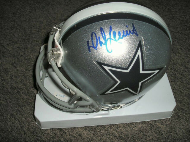 D.D. Lewis autographed Dallas Cowboys mini helmet #1