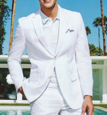 1ade78a381 Lauren Ralph Lauren Blazer Size 48r Men Linen Suit Jacket Sport Coats White