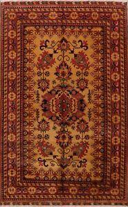 Geometric-GOLD-RUST-Super-Kazak-Hand-Knotted-Area-Rug-Oriental-Wool-Carpet-7x11