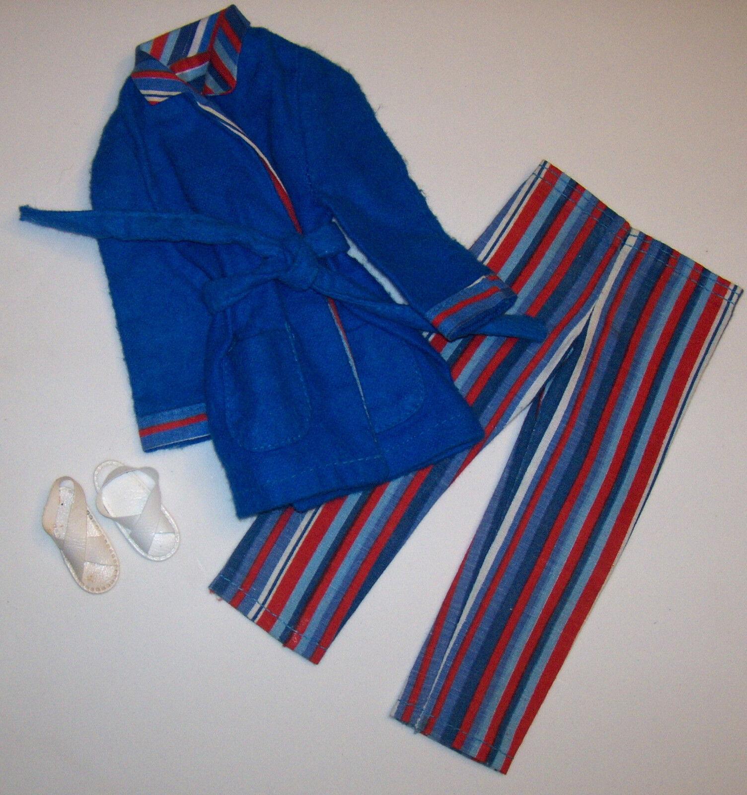 Vintage Ken Wide Awake Strisce Pigiama Pj's Pak  3377 Accappatoio & con Barbie