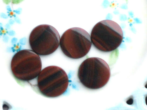 Details about  /#685A Vintage Glass Cabochons Red Tiger Eye 16mm Round Onyx Jasper NOS