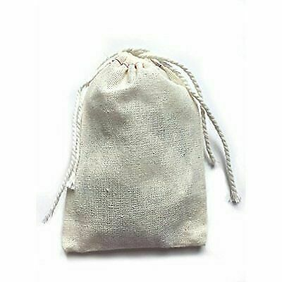 0eb244ceff67 Small Tea Filters Cotton Muslin Cloth Double Drawstring Bag 3x5 Inch 25  Count for sale online   eBay